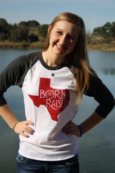 MEDIUM Born & Raised Texas Aggies Maroon Cotton by bohocircus, $27.95
