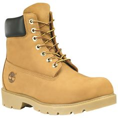 "The Wheat Nubuck 6"" Basic Boots by Timberland feature: Premium, full-grain, waterproof leather for comfort, durability and abrasion resistance Double-barreled padded system; thin sheet of polyurethane"