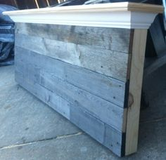 Queen Size Barn wood headboard