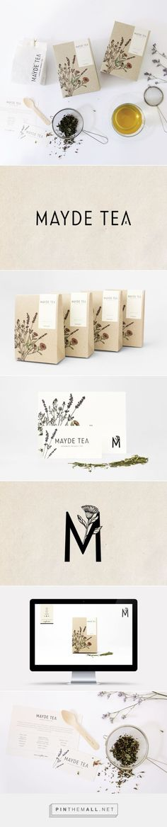 MAYDE Tea Branding and Packaging by Smack Bang Designs / Branding Ideas / Inspiration / Botanical / Natural / Organic / Wellness / Vintage