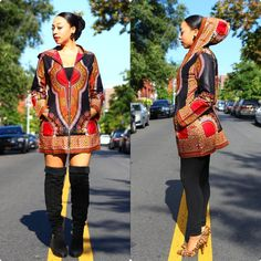 african fashion New Women Fashion African Print Dashiki Hooded Jacket Ankara Tribe Pattern Coat African American Fashion, African Print Fashion, Africa Fashion, African Fashion Dresses, African Outfits, Ankara Fashion, African Attire, African Wear, African Women