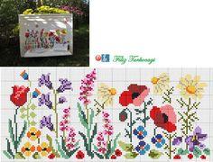 Designed and stitched by Filiz Türkocagi. Cross Stitch Rose, Cross Stitch Borders, Cross Stitch Flowers, Cross Stitch Designs, Cross Stitching, Cross Stitch Embroidery, Embroidery Patterns, Hand Embroidery, Cross Stitch Patterns