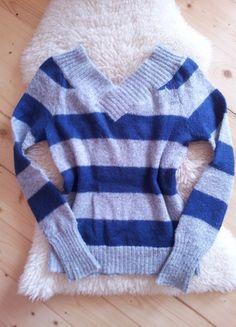 Įsigyk mano drabužį #Vinted http://www.vinted.lt/moteriski-drabuziai/v-formos-megztiniai/17317544-marinistinio-stiliaus-vilnonis-lengvas-megztinis