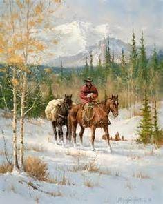 western art O Cowboy, Cowboy Horse, Cowboy Artwork, Arte Equina, Southwest Art, Le Far West, Equine Art, Mountain Man, Wildlife Art