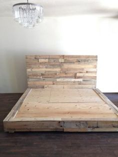Natural Wood Beds by Ign. Design. - rustic knotty wood | Wood beds ...