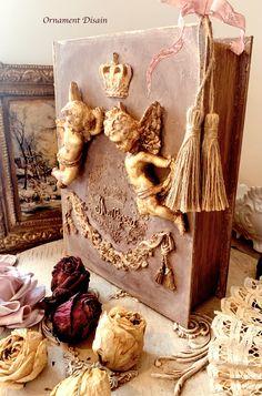 Medium Art, Mixed Media Art, Angels, Ornaments, Book, Angel, Mixed Media, Christmas Decorations, Book Illustrations