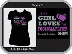 Football Mom Glitter T-Shirt