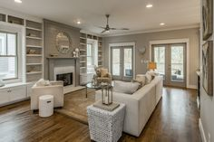 Home Decor White Oak-Hill-Craftsman-by-Marilyn-Hill-Interiors Living room vs family room what is the difference?Home Decor White Oak-Hill-Craftsman-by-Marilyn-Hill-Interiors Living room vs family room what is the difference? Living Room Grey, Living Room Kitchen, Living Room Interior, Home And Living, Living Room Decor, Living Spaces, Small Living, Dining Room, Hill Interiors
