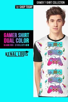 Dual Color Gaming Evolution - Gamer Shirts | A collection of gamer shirts created for gamers, YouTube gamers, Fortnite, Roblox, Panda Lovers and more. From The brands Just Gaby Gaming, Jays Xtreme Gaming, and Kenal Louis. ( Gamer Shirts, Gamer Shirt, Gamer T Shirt )#gamer #tshirts #shirts Order T Shirts, Mom Shirts, Cool T Shirts, Creative Birthday Gifts, Gamer Shirt, Creative Shirts, Cute Games, Cool Graphic Tees, Ring Doorbell