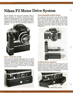 Nikon F2 - The Evolution of the Nikon System - 1976 Sales Sheets - Free Download - Surplus Camera Gear