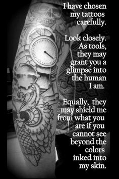 Discover and share Quotes About Tattoos And Piercings. Explore our collection of motivational and famous quotes by authors you know and love. Jj Tattoos, Great Tattoos, Future Tattoos, Beautiful Tattoos, Body Art Tattoos, Tatoos, Tasteful Tattoos, Female Tattoos, Beautiful Gif