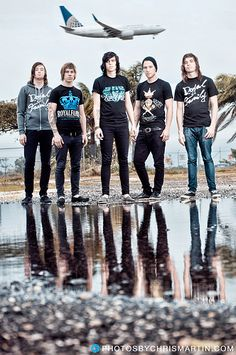 Kellin Quinn Justin Hills Gabe Barham Jesse Lawson Jack Fowler saw these on the Emo Bands, Music Bands, Rock Bands, Playlists, Indie, Memphis May Fire, Love Band, Falling In Reverse, Mayday Parade