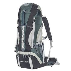 G4Free 50L+5L Outdoor Sport Water-resistant Internal Frame Backpack Hiking Backpack Backpacking Trekking Bag with Rain Cover for Climbing,camping,hiking,Travel and Mountaineering(Black) - Features Capacity: 1.An extension collar with two drawstrings on the top can expand the pack and increase the main compartment capacity by 5 liters 2.Front sleeping bag compartment with divider 3.Internal hydration bladder's sleeve and one hydration access for the tube (water bladder not included...