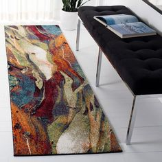 SAFAVIEH Glacier Bree Modern Abstract Rug - On Sale - Overstock - 11724988 - 9' x 9' Square - Red/Multi Living Room Bedroom, Dorm Room, Online Home Decor Stores, Modern Rugs, Outdoor Rugs, Rugs On Carpet, Carpets, Contemporary Style, Furniture Decor