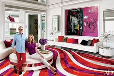 TOMMY HILFIGER'S VIBRANT MIAMI HOME Just outside Miami, Dee and Tommy Hilfiger team up with designer Martyn Lawrence Bullard on a polychrome...