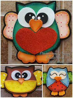 #CreacionesJennyCR Owl Crafts, Diy And Crafts, Crafts For Kids, Cottage Crafts, Beautiful Owl, Paper Piecing Patterns, Jungle Theme, Kindergarten Activities, Felt Animals