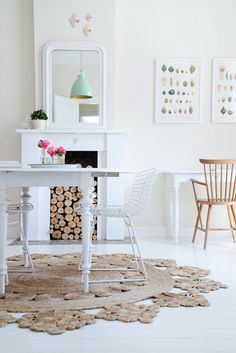 Great idea for a kitchen rug... Serena & Lily has one similar. yvestown.com