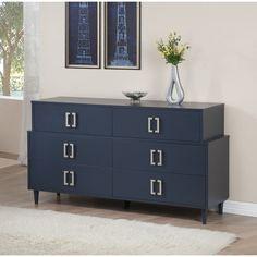 Navy Empire 6-drawer Dresser   Overstock.com Shopping - The Best Deals on Dressers