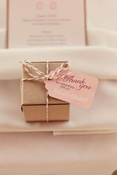 Pink Favor Tags