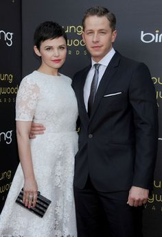 Ginnifer Goodwin and Josh Dallas. Aren't uh just the cutest?