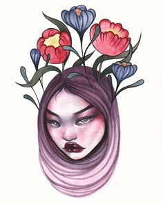 """1,306 Likes, 5 Comments - ROSE ELLEN SWENSON (@roseellenswenson) on Instagram: """"""""GROWTH"""" Original available in my shop ♡ (link in bio)"""""""