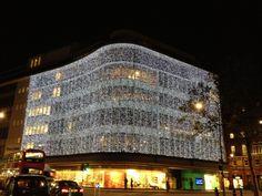Peter Jones Christmas lights in Chelsea.