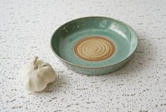 Ceramic Garlic Grater Oil Dipping Dish  by CurlyGirliePottery, $20.00