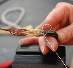 "About the Weaving Technique Called Viking Knitting.  ""Viking knitting"" is not actually knitting in the way you might think (i.e. with two needles), but is actually a type of weaving."