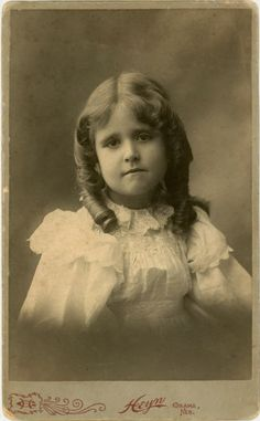 LARGE Vintage Cabinet Card Photo Sweet Curls by dawnandross