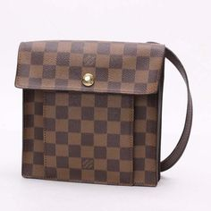 Louis Vuitton Pimlico  Damier Ebene Shoulder bags Brown Canvas N45272
