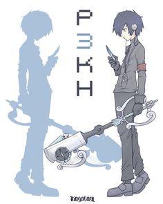 Persona 3 Kingdom Hearts -MC- by kagekara-chihiro on DeviantArt Kingdom Hearts Crossover, Kingdom Hearts Art, Persona Crossover, Persona 4, Persona 3 Anime, Best Rpg, Shin Megami Tensei Persona, Epic Games, Anime Demon
