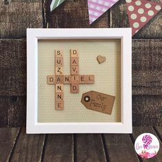 Family Scrabble Tile Box Frame by LoveAndLollipops1 on Etsy