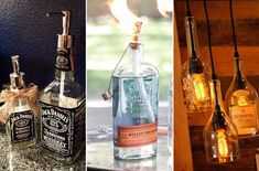 10 Creative Things You Can Do with Empty Whiskey Bottles