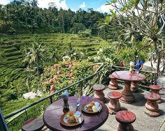 #Bali. A simple lunch with beautiful view at warung @IbuLoji #Ubud. We have Nasi Goreng & Bakmi Goreng made from family recipe so tasty...