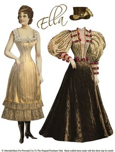 ALTERED ARTIFACTS: Victorian Steampunk Paper Doll Free Printable