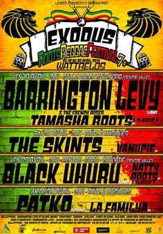 Exodus Roots Reggae Festival. Du 18 au 30 avril 2014 à wattrelos.