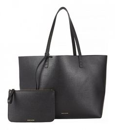 Mansur Gavriel Saffiano Large Tote in Black // the ultimate carry-all