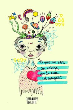 Illustration by Guadalupe Ferrante Favorite Quotes, Best Quotes, Life Quotes, Nana Quotes, Mommy Quotes, Positive Mind, Positive Vibes, Quotes En Espanol, Magic Words