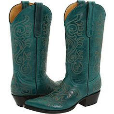 Teal Cowboy Boots.  ♥