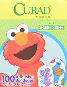 Medline Bandage Curad Sesame Street 34 Inch x 3 Inch 12 Count -- You can find out more details at the affiliate link of the image.