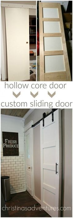 DIY Sliding Barn Door - such an easy way to add farmhouse style to any room!