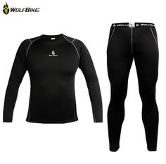 6650c7802b7 WOSAWE Men Thermal Fleece Base Layer Compression Clothing Under Wear  Cycling Bike Long Sleeve Jersey Winter Runing Tights