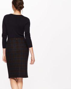 Knitted Milano Check Skirt