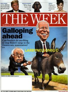 THE WEEK MAGAZINE MARCH 20 2020 SANDERS STOP BIDEN DOGS HALSEY TRUMP OUTBREAK US Pod Coffee Makers, Sarah Brightman, The Week Magazine, March 20th, Relentless, Halsey, Do Anything, Digital, Dogs