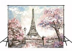 Oil Painting Paris Eiffel Tower Backdrops for Photography Wedding Pink Flowers Photo Background Valentine's Day Fabric Photo Backdrop Torre Eiffel Paris, Paris Eiffel Tower, Photography Studio Background, Photography Backdrops, Photography Backgrounds, Newborn Photography, Art Photography, Painting Frames, Painting Prints