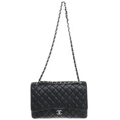 1173c7f0d641 Chanel Maxi Chanel single flap Handbags Leather Black ref.82581 - Joli  Closet Chanel Maxi