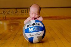 Got to start somewhere. Volleyball player in training