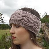 Ravelry: Cocoon Cabled Headband pattern by William Nelson free pattern