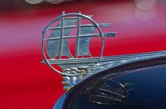1934 Plymouth Hood Ornament - Car photographs  by Jill Reger