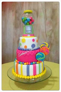 Candy themed cake Cupcakes, Cake Cookies, Cupcake Cakes, Torta Candy, Candy Cakes, Candy Birthday Cakes, Birthday Cake Girls, Beautiful Cakes, Amazing Cakes